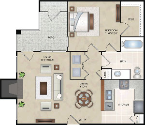 A2 - One Bedroom / One Bath