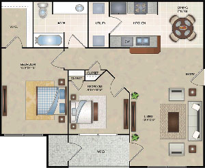 B1 - Two Bedroom / One Bath